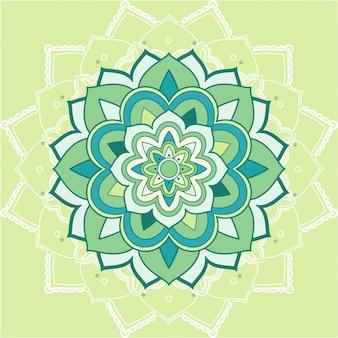 Mandala-patronen op groene achtergrond