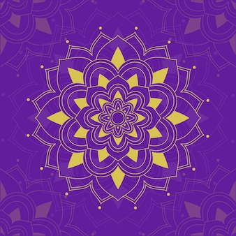 Mandala-patronen op paars