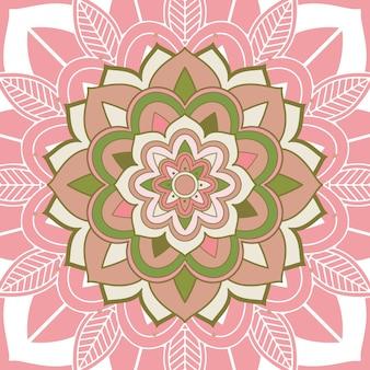 Mandala-patronen op roze
