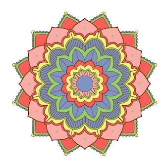 Mandala-patronen op wit