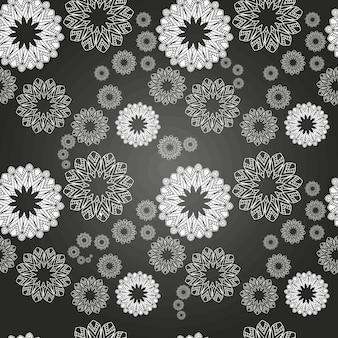 Mandala patroon. hand getekend etnische decoratieve textuur vector illustratie eps 10 voor uw ontwerp.