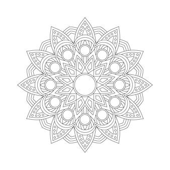 Mandala patroon kleurboek paginaboek