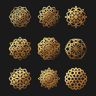 Mandala patroon vector illustratie pack