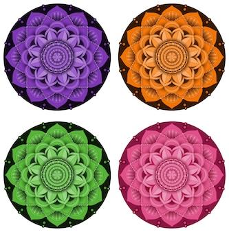 Mandala patroonontwerp op witte achtergrond
