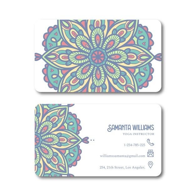 Mandala persoonlijke kaartsjabloon