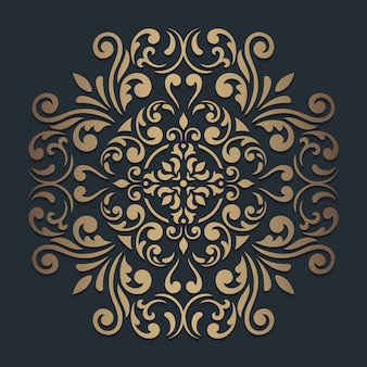 Mandala rond ornament op donker