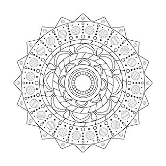 Mandala rond ornamentpatroon backgrund