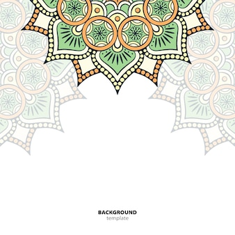 Mandala. rond ornamentpatroon. etnische oosterse achtergrond
