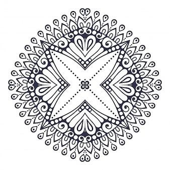 Mandala. rond ornamentpatroon. vintage decoratieve elementen