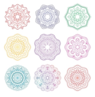 Mandala ronde bloemen ornament collectie