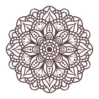 Mandala ronde ornament patroon. decoratief patroon in oosterse stijl. vintage decoratieve elementen