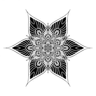 Mandala's kleurboek, oosterse therapie, yoga logo's vector.