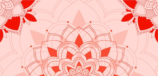 Mandala's patroon op roze achtergrond