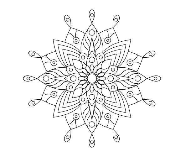 Mandala schoonheid ornament vector pictogram afbeelding ontwerp