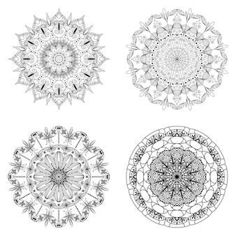 Mandala set geïsoleerd op wit