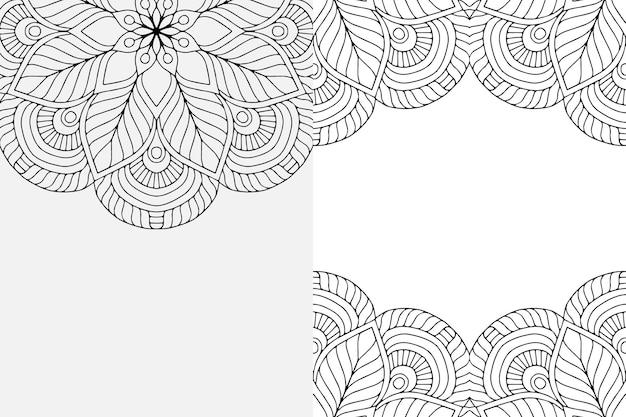 Mandala sieraad. vintage decoratieve elementen achtergrond