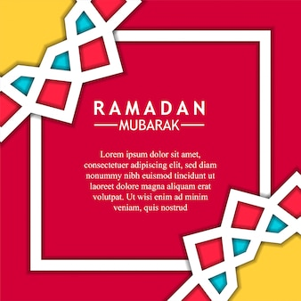 Mandala-ster geometrische achtergrond voor ramadan mubarak