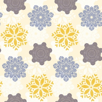 Mandala-stijl naadloos patroonontwerp