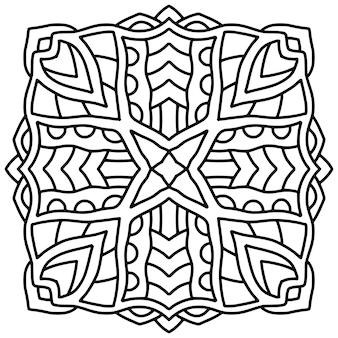 Mandala tegel ontwerp. boek kleurplaat.