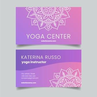 Mandala-thema voor zakenkaart