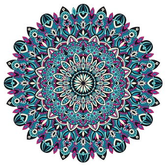 Mandala tribal vintage etnische element.