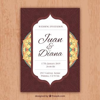 Mandala uitnodigingssjabloon