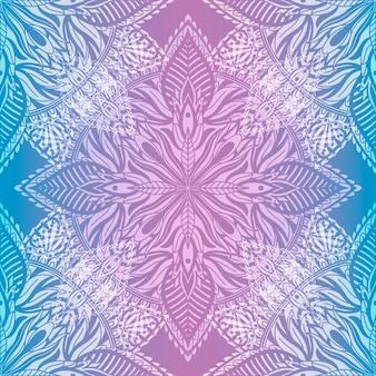 Mandala van het kunst naadloze patroon