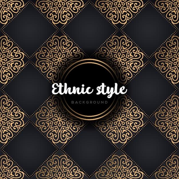 Mandala van het luxe de naadloze patroon