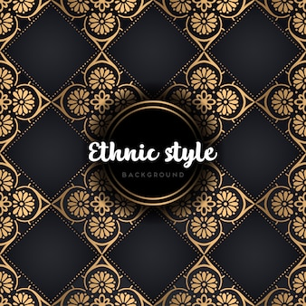 Mandala van het luxe naadloze patroon