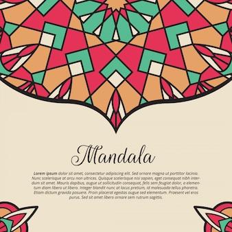 Mandala vector achtergrond