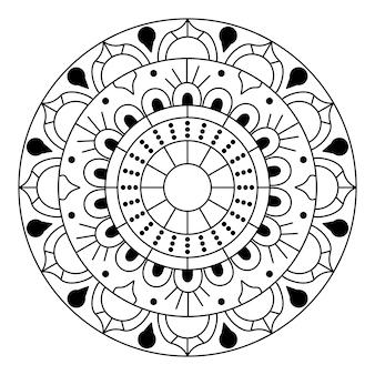Mandala vector kunstpatroon