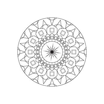Mandala vector lineair ontwerp