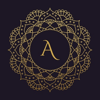 Mandala-vector logo / pictogram illustratie