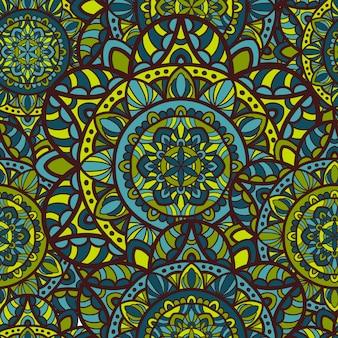 Mandala vector naadloos patroon