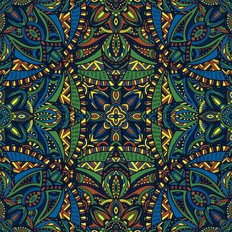 Mandala vector naadloze patroon achtergrond. tribal sieraad.