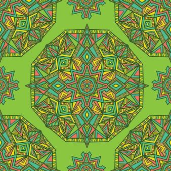 Mandala vector naadloze patroon achtergrond