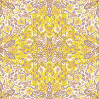 Mandala vector naadloze patroon tribal sieraad.