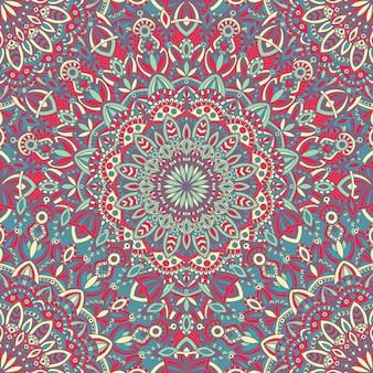 Mandala vector tribale vintage etnische naadloze patroon voor afdrukken