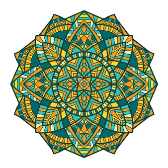 Mandala vectorontwerp voor afdrukken. tribal sieraad.