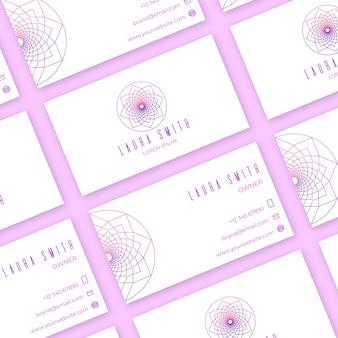 Mandala visitekaartje concept