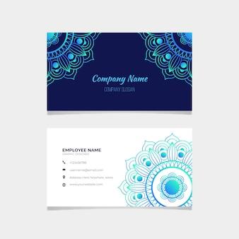 Mandala visitekaartje sjabloon pack