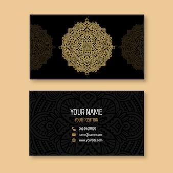 Mandala visitekaartje thema