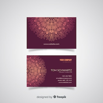 Mandala visitekaartjesjabloon
