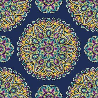 Mandala voor afdrukken. tribal ornament.