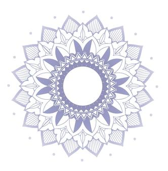 Mandalapatronen op geïsoleerde achtergrond