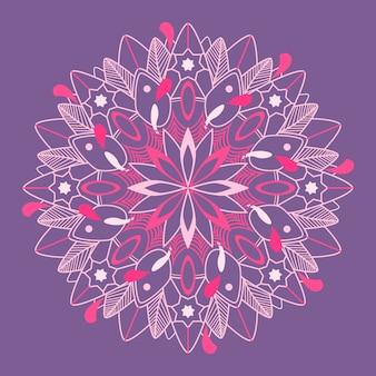 Mandalapatroon op purpere achtergrond