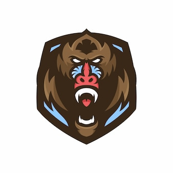 Mandril aap - vector logo / pictogram illustratie mascotte
