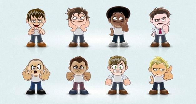 Manga avatar gezichten en uitdrukkingen
