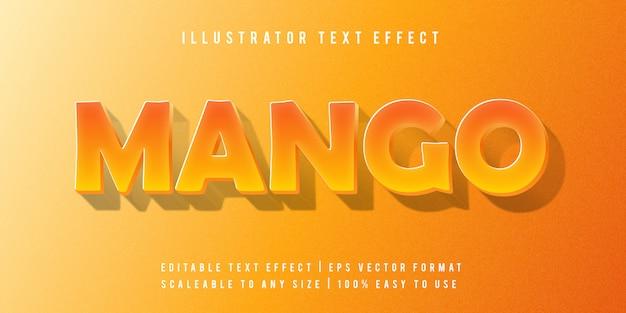 Mango fun levendige tekststijl lettertype-effect