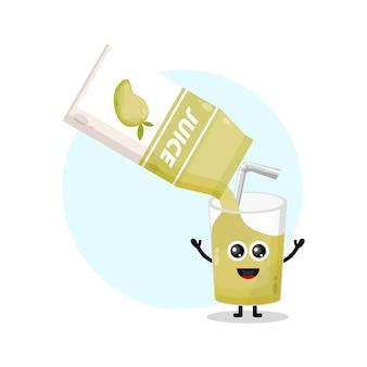 Mango sapdoos glas schattig karakter logo